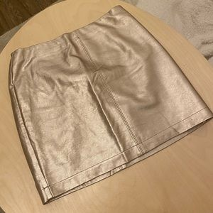 Gold leather skirt | Size 2/small